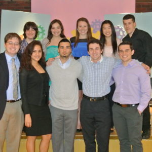 Newly inducted members of the Tri-Beta Biological Honor Society. (Picture taken by Stephanie Rollizo)