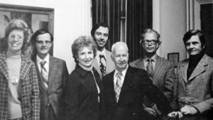 1973 Music faculty (Margery Mayer Steen is third from left) (Kallista) 16x9