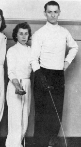 Mickey Mikkelsen and Carl Heilsberg in fencing gear from the 1941 Kallista