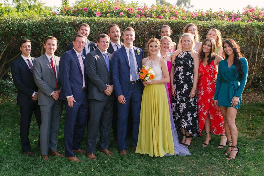 A group photo of the Herrick wedding.