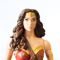 A Wonder Woman figurine.